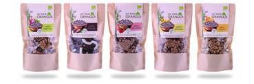 LOGO_My raw granola 230g, aus Erd Mandeln, bio, gluten, laktose und nussfrei, ohne Zuckerzusatz