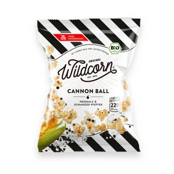 "LOGO_Wildcorn Popcorn ""Cannon Ball"" Salt & Pepper"