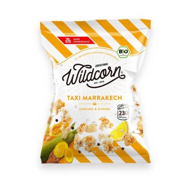 "LOGO_Wildcorn Popcorn ""Taxi Marrakech"" Curcuma & Zitrone"