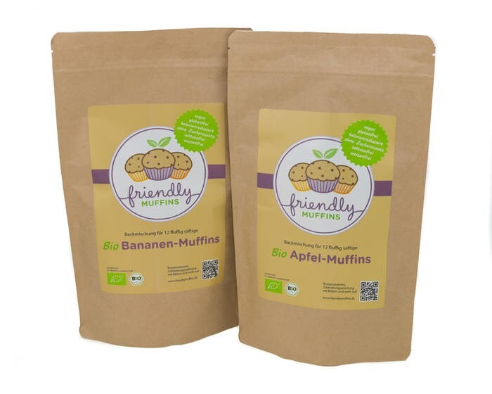 LOGO_friendlyMUFFINS Organic Muffin Baking Mix - vegan, gluten-free, calorie-reduced & no added sugar