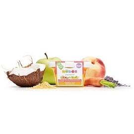 LOGO_Peach, carrot, coconut milk, lavender - golden millet, apple