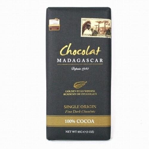 LOGO_100% Cocoa Fine Dark Chocolate Bars 85g