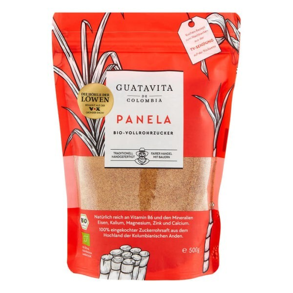 LOGO_GUATAVITA- Panela pouch, organic whole cane suagar