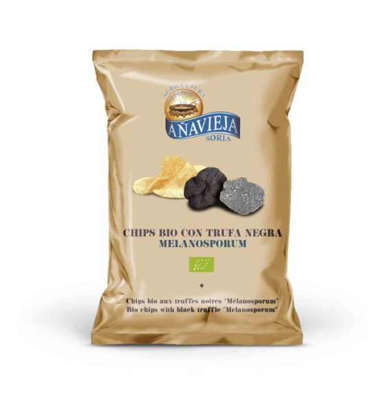 "LOGO_Organic potato chips with black truffle ""Melanosporum"""