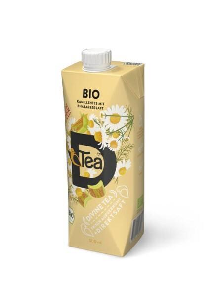 LOGO_BIO D'Tea freshly brewd Chamomiletea with Rhubarbjuice