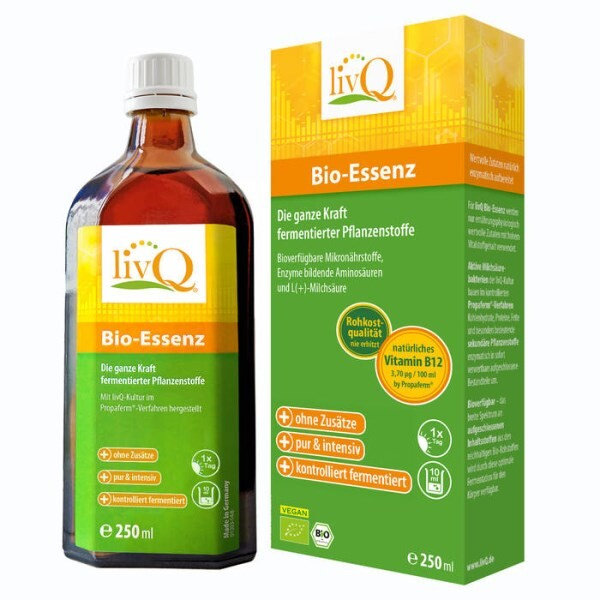 LOGO_livQ Bio-Essenz, fermented bio concentrate in raw food quality, naturally contains vitamin B12