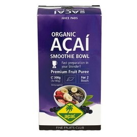 LOGO_Organic Açaí puree for Smoothies and bowls 300g (3x100g), frozen