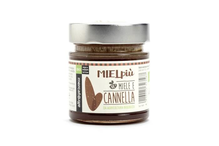 LOGO_MIELpiù Organic Honey with Cinnamon