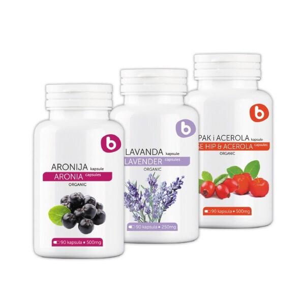 LOGO_Aronia capsules, Lavender capsules, Rosehip - acerola capsules