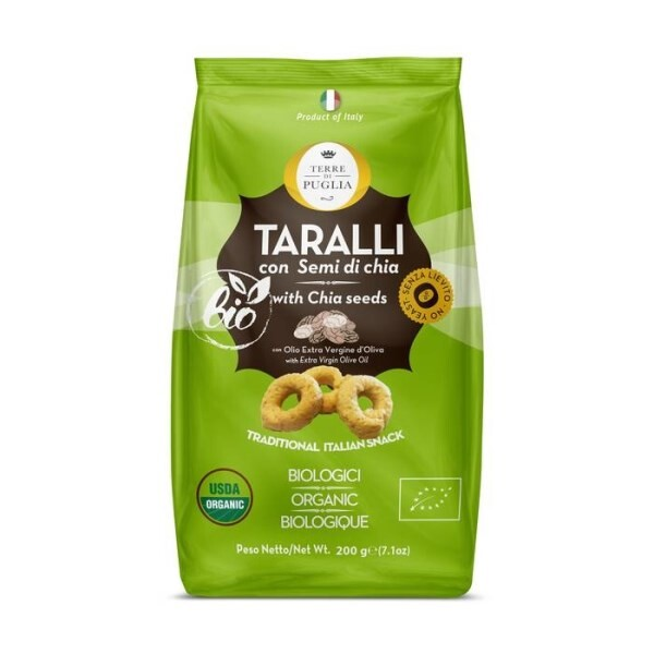 LOGO_ORGANIC TARALLI WITH CHIA SEEDS