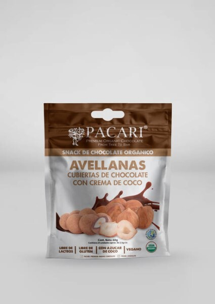 LOGO_Hazelnuts covered with Organic and fair trade chocolate with coconut milk and coconut sugar