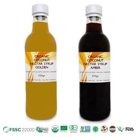 LOGO_Organic Coconut Nectar Syrup GOLDEN and AMBER