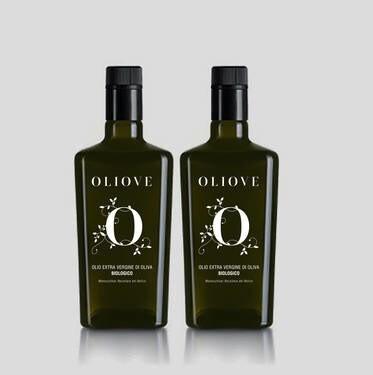 LOGO_Oliove organic extra virgin olive oil in 0,25 LT glass bottle