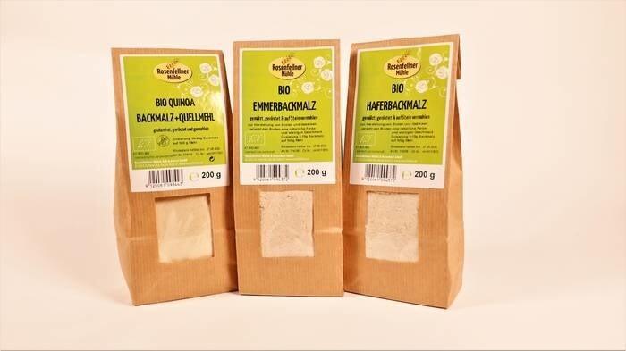 LOGO_Bio Aroma baking malt from emmer and oats, Bio Aroma baking malt and swelling flour Quinoa glutenfree