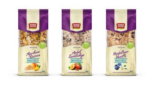 LOGO_Aprikose-Quinoa-Müsli ungesüßt; Heidelbeer-Vanille-Müsli ungesüßt; Apfel-Zwetschge-Müsli ungesüßt