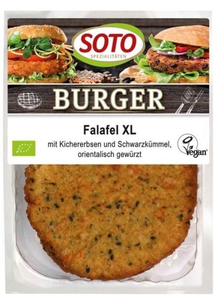 LOGO_Burger Falafel XL - mit Kichererbsen und Schwarzkümmel, orientalisch gewürzt
