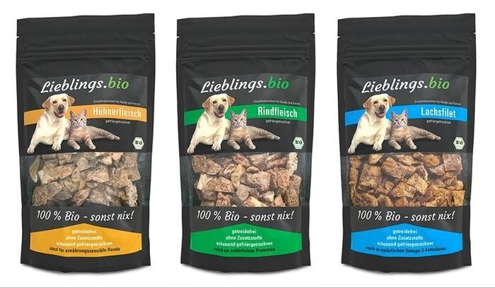 LOGO_Freeze-dried Lieblings.bio snacks for the cat and the dog - 100% organic - nothing else!