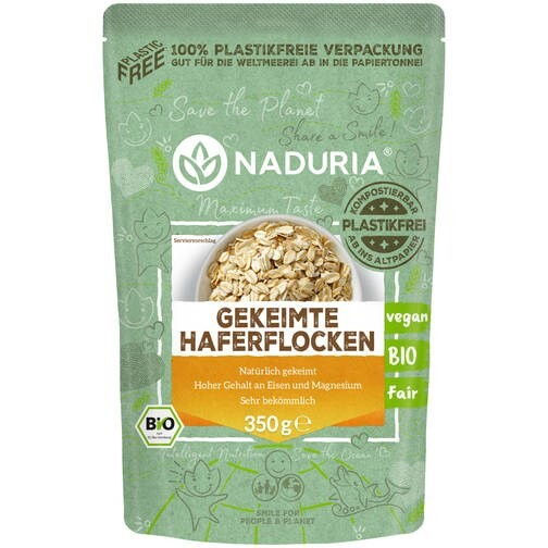LOGO_NADURIA SPROUTED OATS with unique 100% plasticfree paper bag