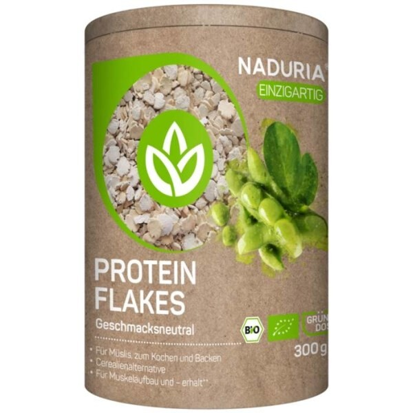 LOGO_NADURIA PROTEIN FLAKES with unique sustainable can, disposable in paper bin