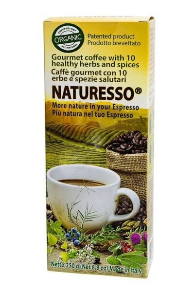 LOGO_NATURESSO® MORE NATURE IN YOUR ESPRESSO! ORGANIC COFFEE WITH 10 ORGANIC NATURAL HERBS AND SPICES