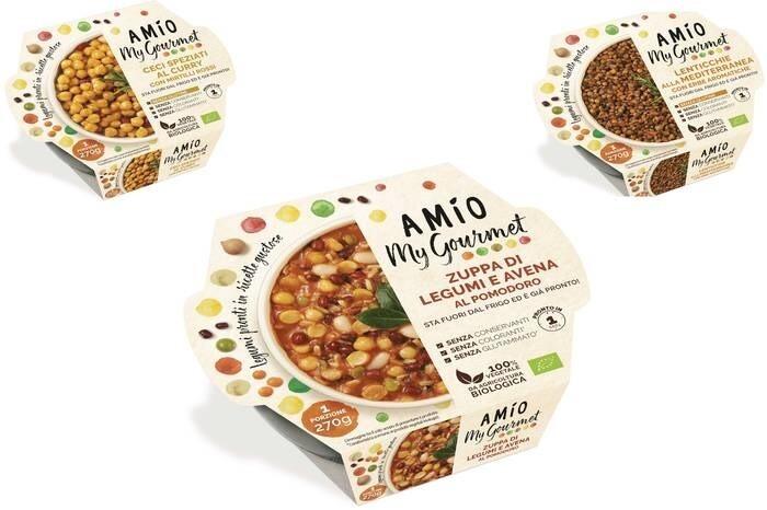 LOGO_AMÍO My Gourmet - Biologische 100% Vegetarische Hülsenfrüchte-basis Fertiggerichte