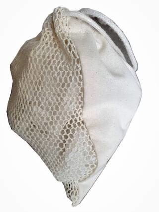 LOGO_reuseable cotton  bag in Honeycomb mesh one side mesh in Fair trade and organic