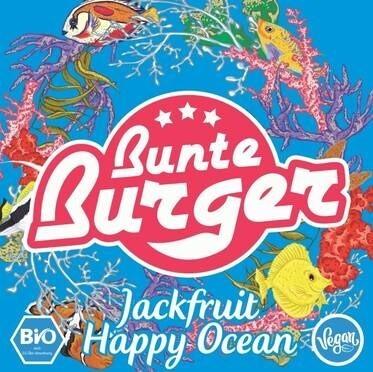 """LOGO_BIO """"Jackfruit Happy Ocean"""" Patty von Bunte Burger - VEGAN & HALAL, OHNE ZUSATZ VON GLUTEN, SOJA, PALMÖL"""