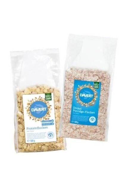 LOGO_DAVERT Dinkel Porridge-Flocken & Proteinflocken