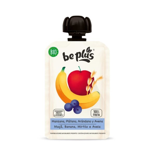 LOGO_Be Plus Apfel, Banane, Heidelbeere und oats