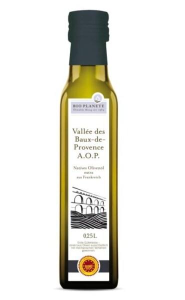 LOGO_BIO PLANÈTE Olivenöl nativ extra · Vallée des Baux-de-Provence A.O.P.  250 ml
