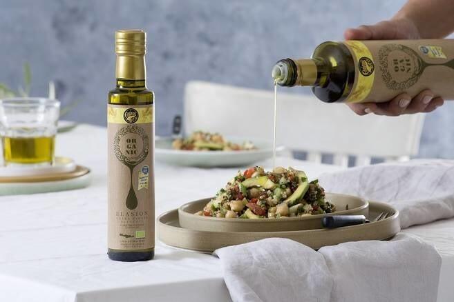 """LOGO_""""ELASION'' - Organisch Εxtra Natives Olivenöl"""