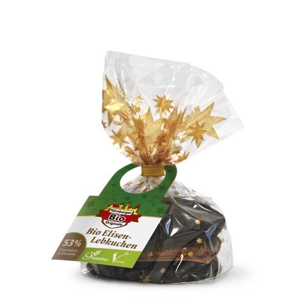 "LOGO_""Organic Original Nuremberg Elisen Lebkuchen (gingerbread) vegan and gluten free """