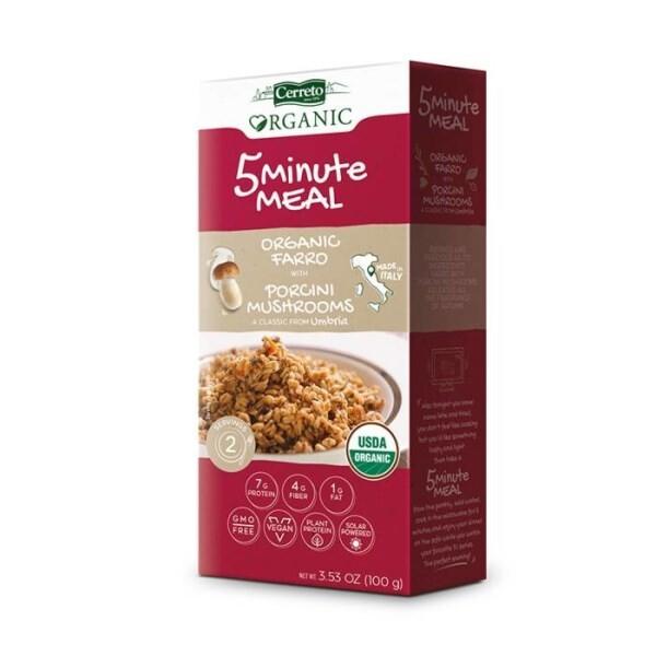 LOGO_5 Minute Meal: Organic Farro with Porcini Mushrooms