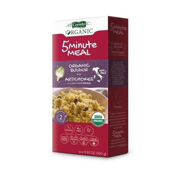 LOGO_5 Minute Meal: Organic Bulgur with Artichokes