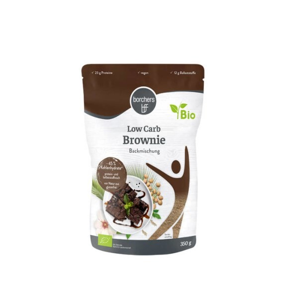 LOGO_Low Carb Backmischung Brownies - vegan