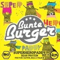 LOGO_Superheropaddy Bean Protein from Bunte Burger - VEGAN & HALAL, WITHOUT GLUTEN, SOY, PALM OIL