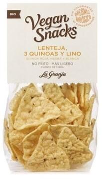 LOGO_Bio-Vegane Linsensnacks mit 3 Quinoa und Leinsamen