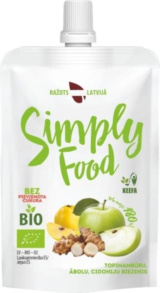 """LOGO_Topinambur, Apfel und Quittenpuree """"Simply Food"""""""