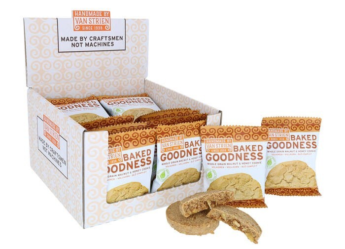 """LOGO_""""Handmade by van Strien"""" Baked Goodness whole grain cookies 20x35 gr OUT OF HOME"""