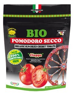 LOGO_Organic sun dried cherry tomato - doypack 100% compostable