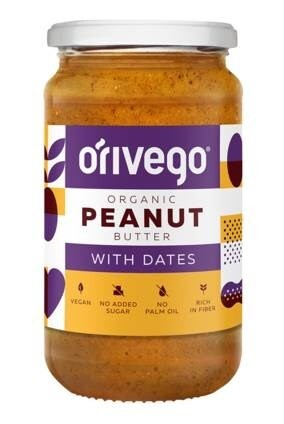 LOGO_Organic Smooth Peanut Butter With Dates 340 g