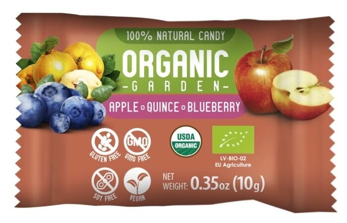 """LOGO_""""Organic Garden"""" candies from berries and fruits"""