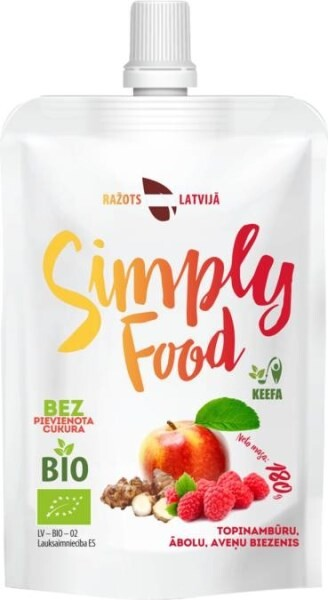 "LOGO_Sunroot, apple and raspberry puree ""Simply Food"""