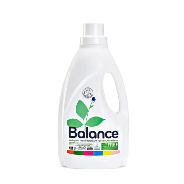 LOGO_BALANCE - ecological liquid detergent for coloured fabrics, 25 washes, 1.5 l