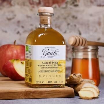 LOGO_Azienda Agricola Giusti - Unfiltered Apple Cider Vinegar with honey and ginger