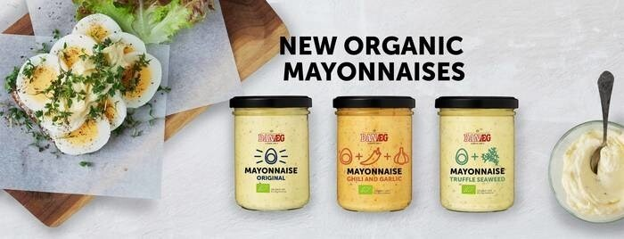LOGO_Three organic mayonnaises with tasty and sustainable seaweed
