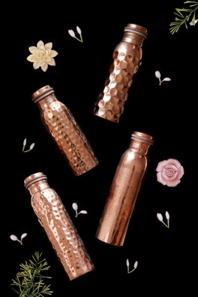 LOGO_HAMMERED COPPER WATER BOTTLES