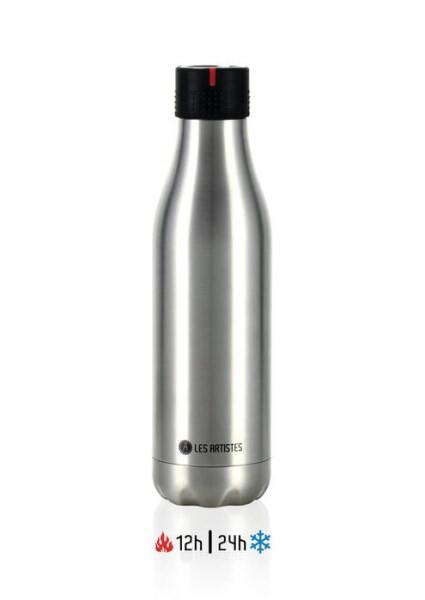 LOGO_Bottle UP Metallic argent 500ml
