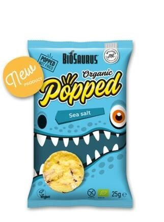 LOGO_Biosaurus Popped - Sea Salt POPPED ORGANIC CORN SNACK