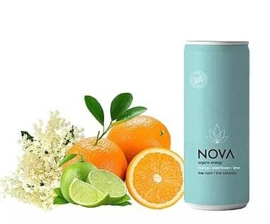 LOGO_ORGANIC ENERGY DRINKS - Passion fruit, Mango & Mint